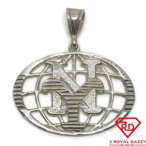 Global New York charm Pendant 925 Solid Silver